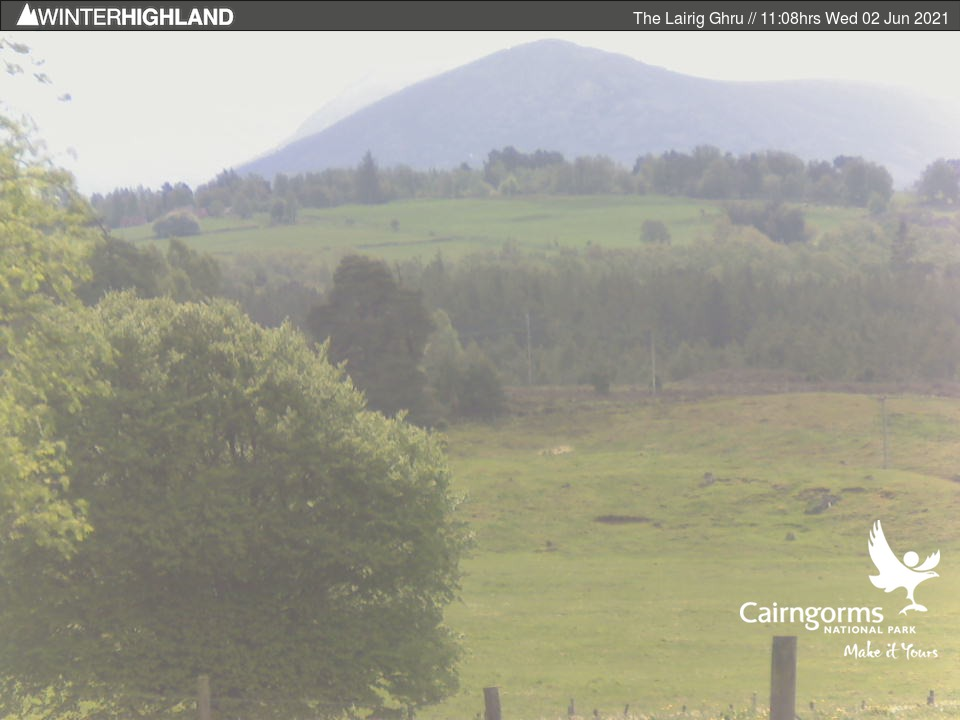 Lairig Ghru, North Scotland- Webcam Image)