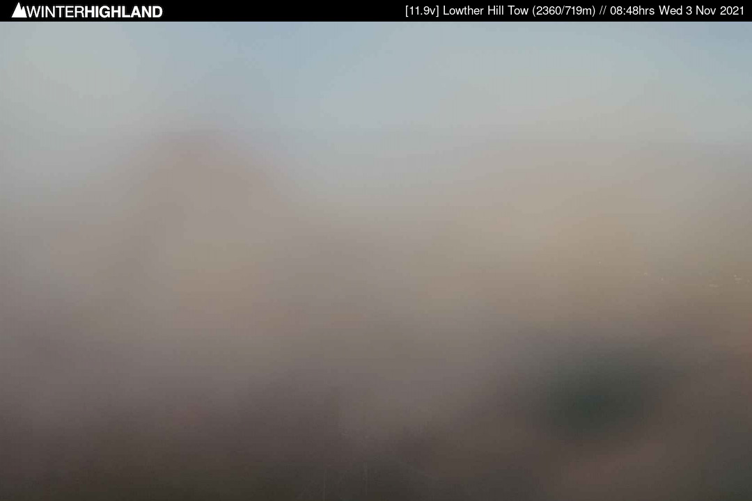 View over Lowther Hill ski tow and slopes, ski lodge, Whiteside nursery area, Southern Upland Way and Wanlockhead